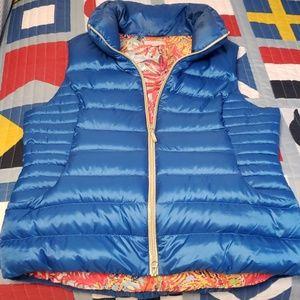 Lilly Pulitzer Allie Brewster Blue Vest XL